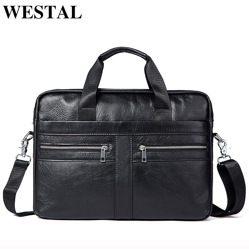 Men/'s Genuine Leather Messenger Bag Shoulder Cross Body Business Pack Briefcase