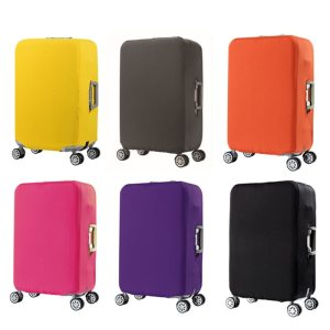 Protective Colorful Stretch Fabric Travel Suitcase Cover