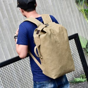 Man's Canvas Travel Backpack
