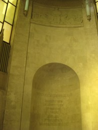 Inside the Anzac Memorial dome, all of the rounded walls have inscriptions