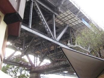 A view under the Sydney Harbour Bridge