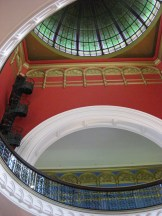 Here's a view from the ground floor looking towards the ceiling in the Queen Victoria Building