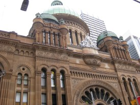 The other side of the outside of the Queen Victoria Building