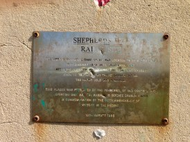 This plaque memorializes the surveillance station on Shepherds Hill