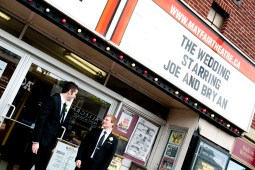 Our names on the marquee was one of the first requests