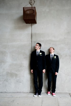 """Our favourite 'staged' photo - instructions were """"stand against the wall"""""""