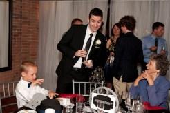 B pretty much danced his way through the wedding