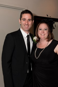 Bryan and one of his oldest friends, Pam, who was only allowed to attend if she wore a facinator