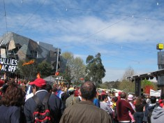 We begin the tour at Federation Square