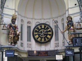 """In #10 the Royal Arcade stand Gog and Magog, """"the two legendary giants of the ancient Britons who have struck on the hour since 1892"""""""