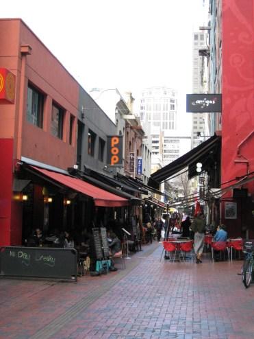 """#18: Hardware Lane """"epitomises Melbourne's laneway renaissance with cobbled stones underfoot and café umbrellas overhead"""""""