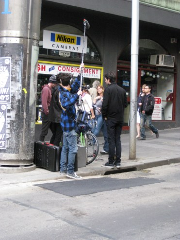 Melbourne is also the main production center of Aussie film and TV (though this could also be a commercial)