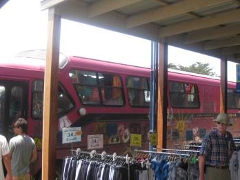 Hippie bus outside the gelato store