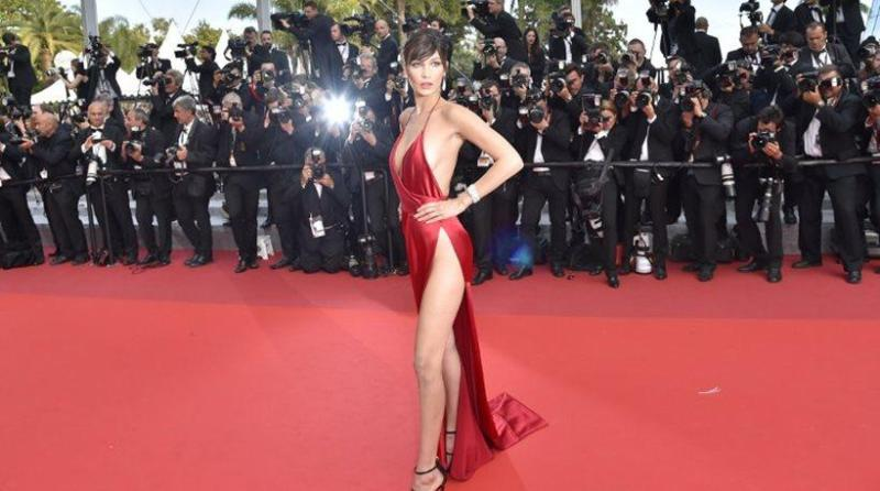Bella Hadid cannes red carpet 1