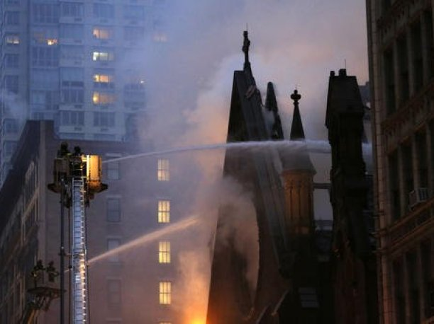 Serbian Orthodox Cathedral of St Sava NYC Fire