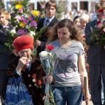 Бронницы. Возложение. 9 мая 2010. Женщина ветеран