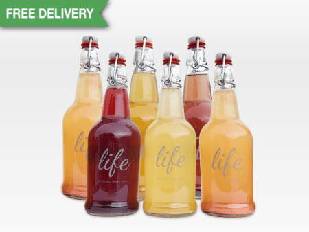 LIFE | 6-Pack Water Kefir (FREE DELIVERY)