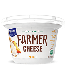 Peach Organic Farmer Cheese
