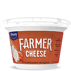 Strawberry Rosehip Farmer Cheese