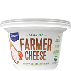 Strawberry Rosehip Organic Farmer Cheese