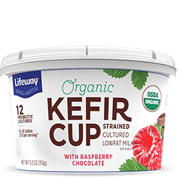 Raspberry Chocolate Organic Kefir Cup