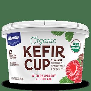 Raspberry Chocolate Organic Kefir Cup