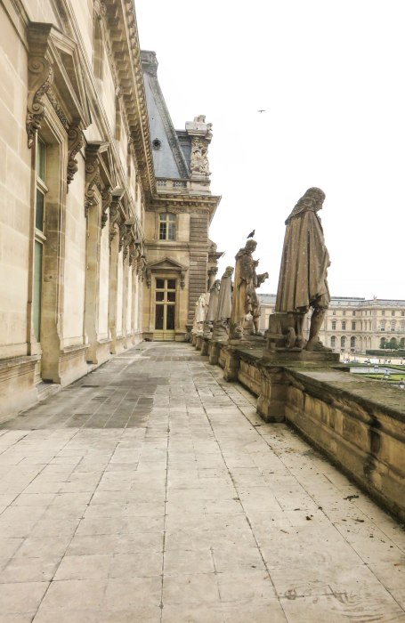 looking outside the louvre