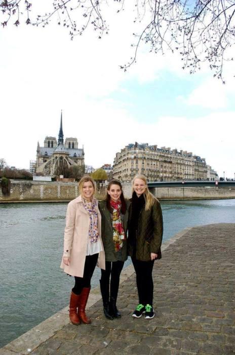 paris france with friends