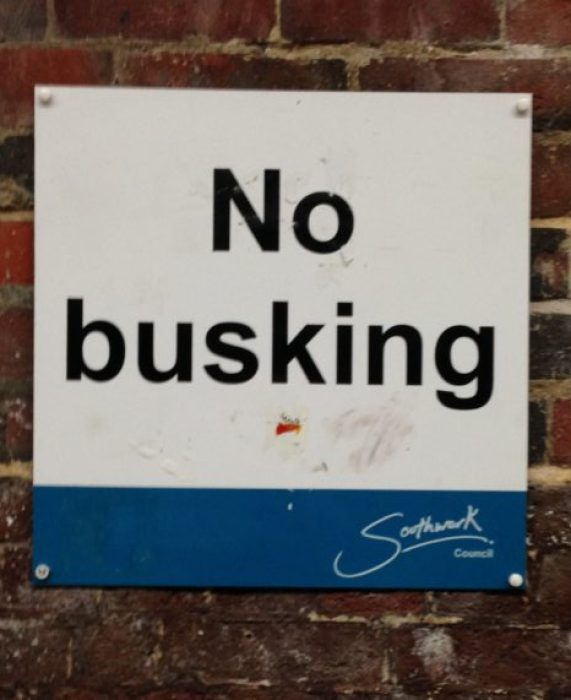 no busking london southbank southwark