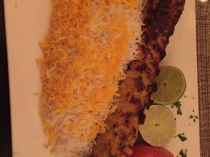 persian food kebab chicken koobideh