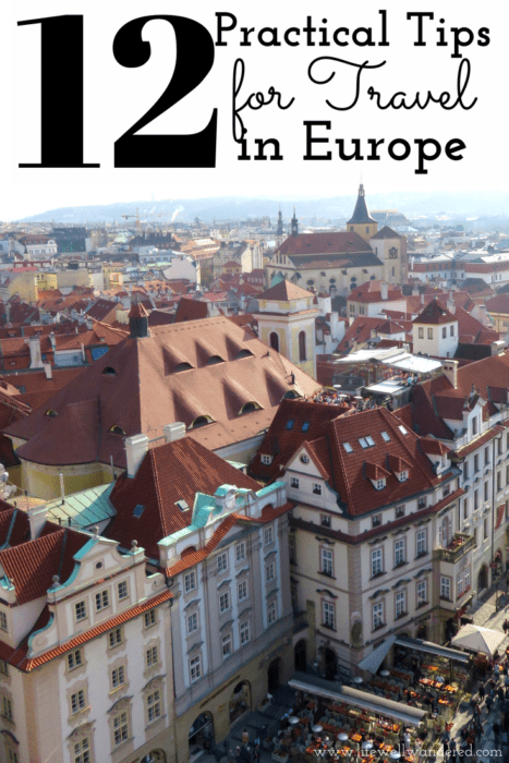 Having lived in two European cities and traveled to about a dozen European countries, I thought I'd consolidate my tips for travel in Europe here! If you haven't traveled to Europe, read this post for easy to follow tips for travel in Europe.