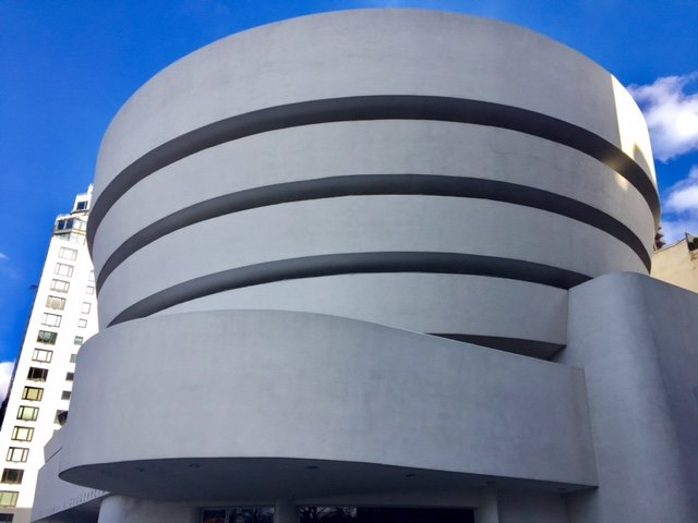 exterior image of the guggenheim museum in new york city