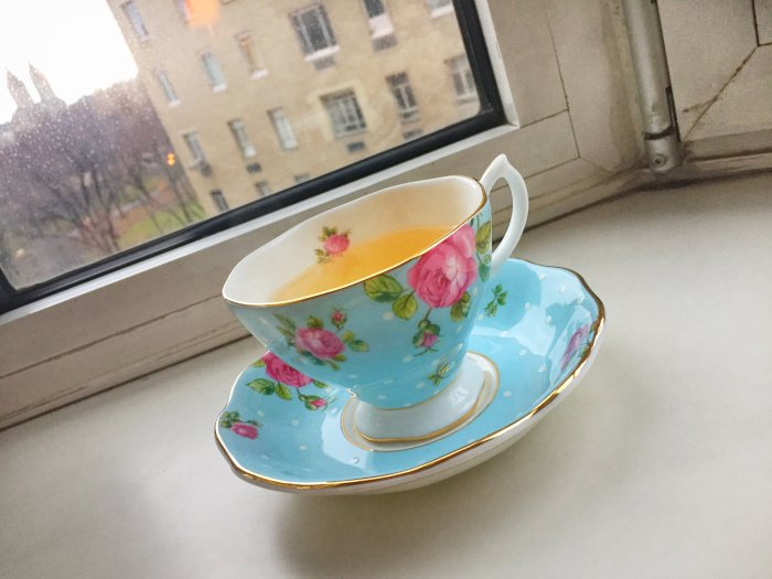 tea in a teacup