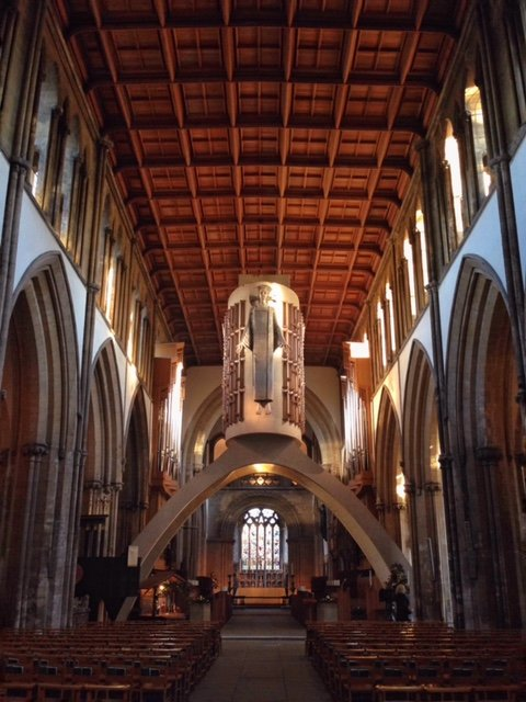 llandaff cathedral interior wales