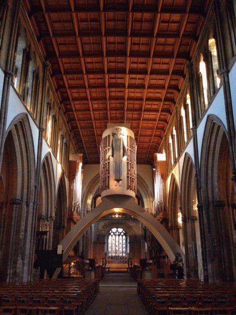 llandaff cathedral interior wales