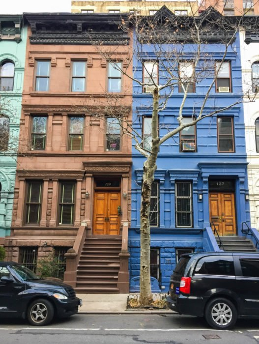 upper west side colorful houses