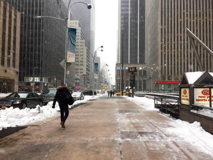 snowy street nyc