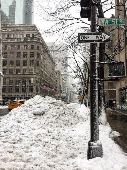 west 51st street nyc snow