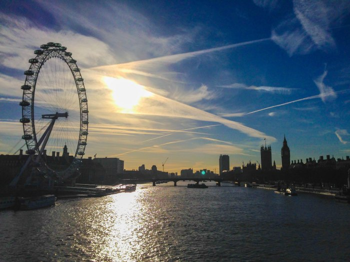 london eye thames parliament