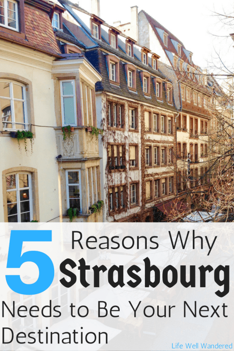 5 Reasons Why Strasbourg France Needs to Be Your Next Destination: This city with great history, food, culture, and sights makes for a perfect, must-do trip!