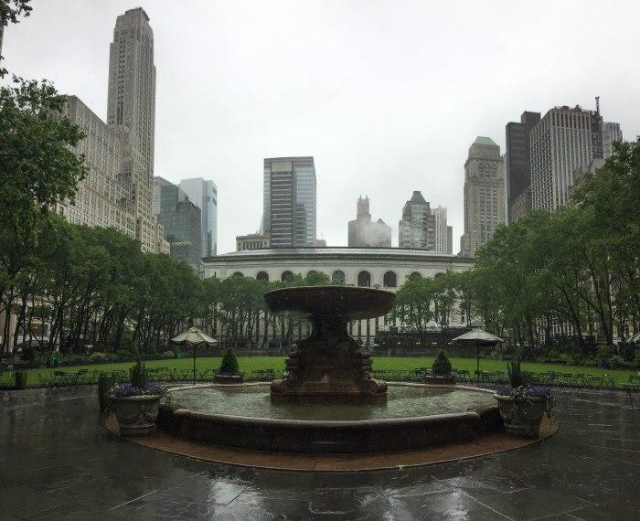 bryant park fountain nypl nyc