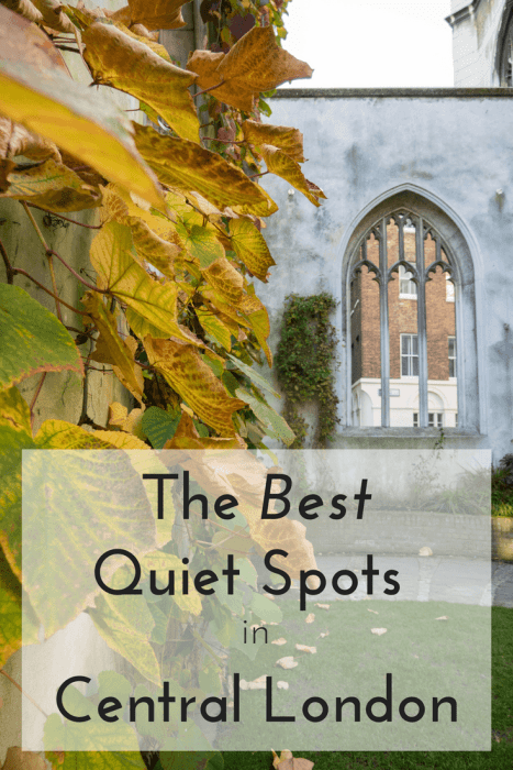 Looking to add some more items to your London to do list? Looking for peace and quiet to your London trip? Check out these beautiful quiet spots in London that will make your London visit even more special.