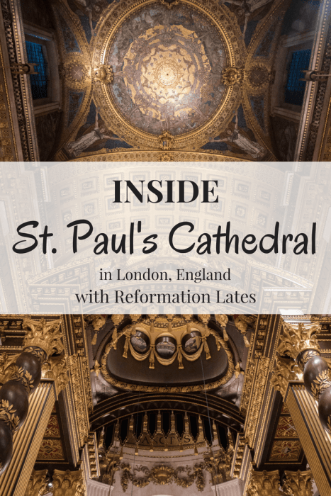 It's rare that you see interior photos of St. Paul's Cathedral in London. However, with Reformation Lates, I had the lucky chance to not only see St. Paul's Cathedral myself, but to also photograph the inside of St. Paul's. Enjoy this photo journal of St. Paul's Cathedral.