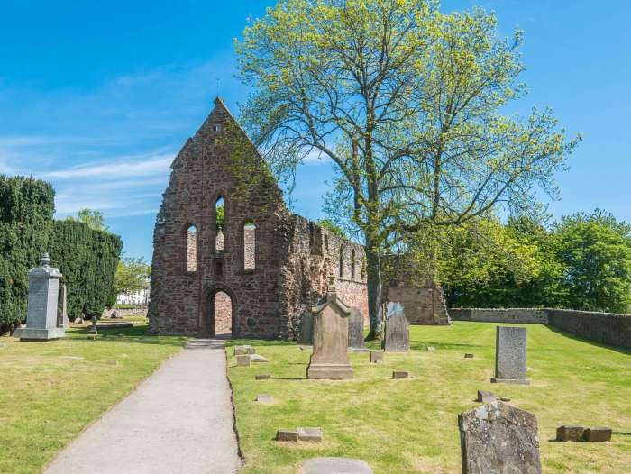 "Image of Beauly Priory, a 13th century monastery where Mary Queen of Scots is said to have stayed. It is an anglicism of the French ""Beau lieu"" meaning beautiful place. #Scotland #Beauly #Highlands"