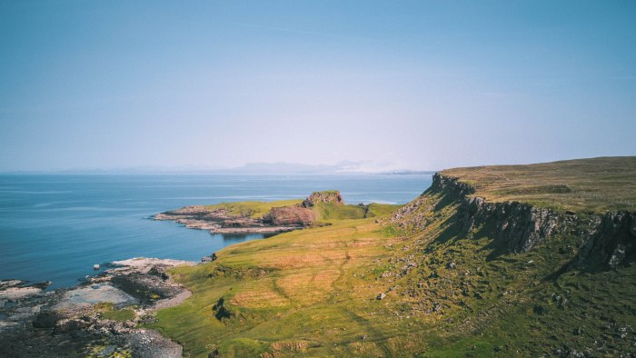 brothers point rubha nam brathairean isle of skye from above