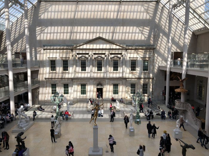 interior of the metropolitan museum of art upper east side nyc