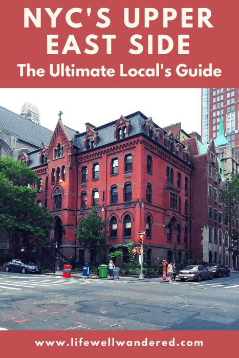 In this local's guide to New York's Upper East Side neighborhood, you'll find the best museums, parks, attractions and things to do on the Upper East Side in New York City, including a list of over 30 of the best Upper East Side Restaurants. #uppereastside #nyc #travelguide