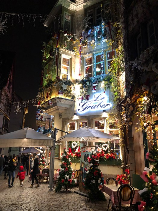 le gruber restaurant strasbourg decorated during christmas