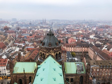 strasbourg cathedral from above 8