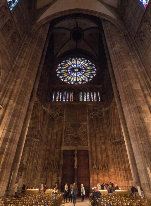 the rose window in strasbourg cathedral, one of strasbourg france's best attractions
